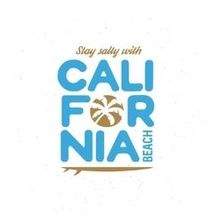 California beach t-shirt graphics Vintage vector image