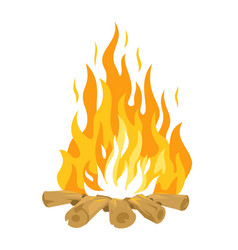 campfire with wood isolated vector image