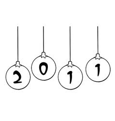 Chrismas new years cartoon vector