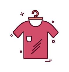 cloths icon design vector image