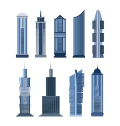 collection buildings for city design vector image