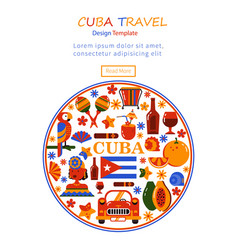 Commercial banner cuba vector