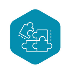 Complete puzzle solution icon outline style vector