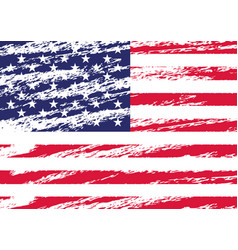 Creative isolated usa flag in grunge style vector