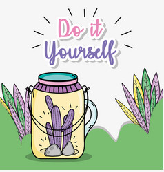 Do it youself cartoons concept vector