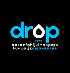 Drops style font vector
