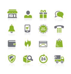E-shopping icons natura series vector