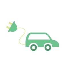 Electric car concept Eco icon vector image