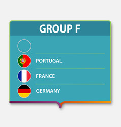 european football tournament group vector image