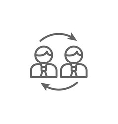 Exchange men outline icon elements business vector