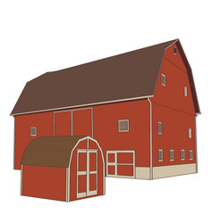 Farmhouse barn vector
