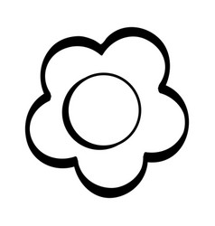 figure beauty flower design icon vector image