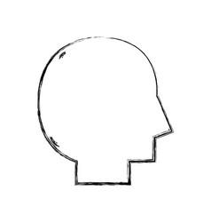 Figure silhouette man head vector