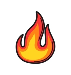 Fire Icon on white background vector