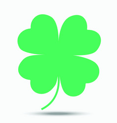 four-leaf clover - a symbol of good luck vector image