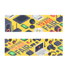 gadget pattern digital device with display vector image