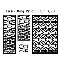 Geometric laser cutting pattern cnc vector