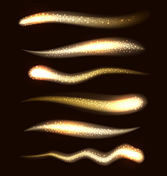 Glow light sparkles on a transparent background vector