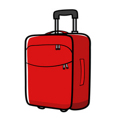 Graphic a travel bag vector