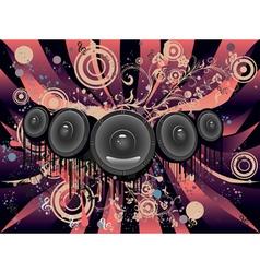Grunge Loud Speaker4 vector