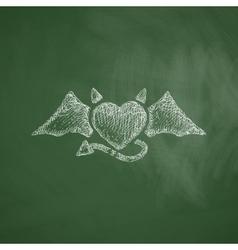 Heart devil icon vector