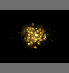 Holiday abstract shiny color gold design element vector