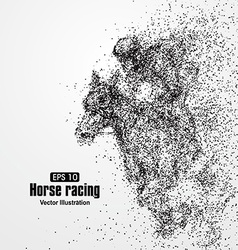 Horse racing particle divergent composition vector