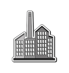 industrial factory icon vector image
