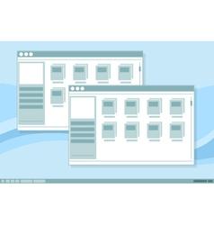 interface frames window design vector image