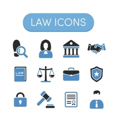 law icons vector image