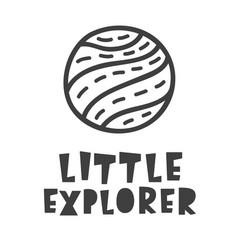 little explorer space travel scandinavian style vector image