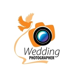 Logo wedding photographer vector