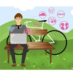 Meet people vector image