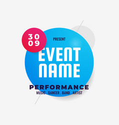 Modern colorful fluid coming soon event poster vector