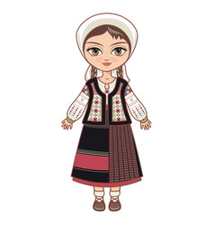 moldova historical clothes vector image