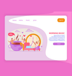 Morning music website background vector