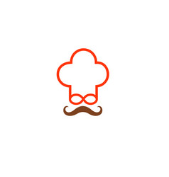 old chef logo vector image
