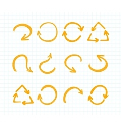 Orange Marker strokes set vector