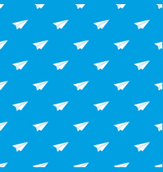paper airplane pattern seamless blue vector image