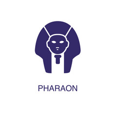 Pharaoh element in flat simple style on white vector