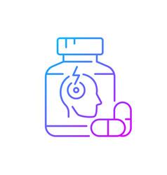 Pills for headache gradient linear icon vector