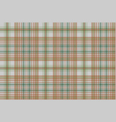 Plaid green gold color seamless fabric texture vector
