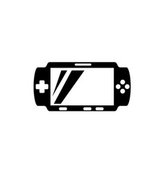 portable video game console flat icon vector image