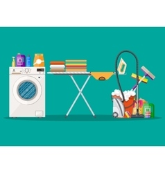 Poster design for cleaning service and supplies vector