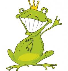 prince frog vector image