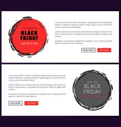 promo posters on black friday sale banners vector image