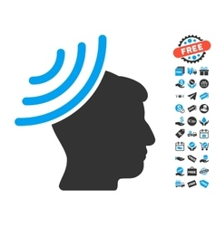 Radio Reception Mind Icon With Free Bonus vector