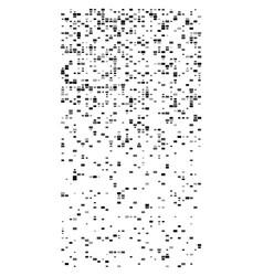 Random squares mosaic pattern pixelated vector
