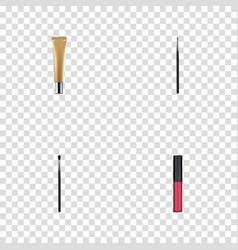 Realistic collagen tube brush liquid lipstick vector