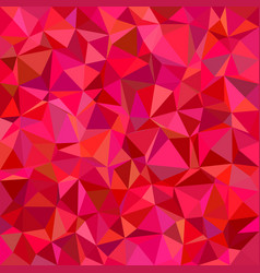 Red triangle tile mosaic pattern background vector